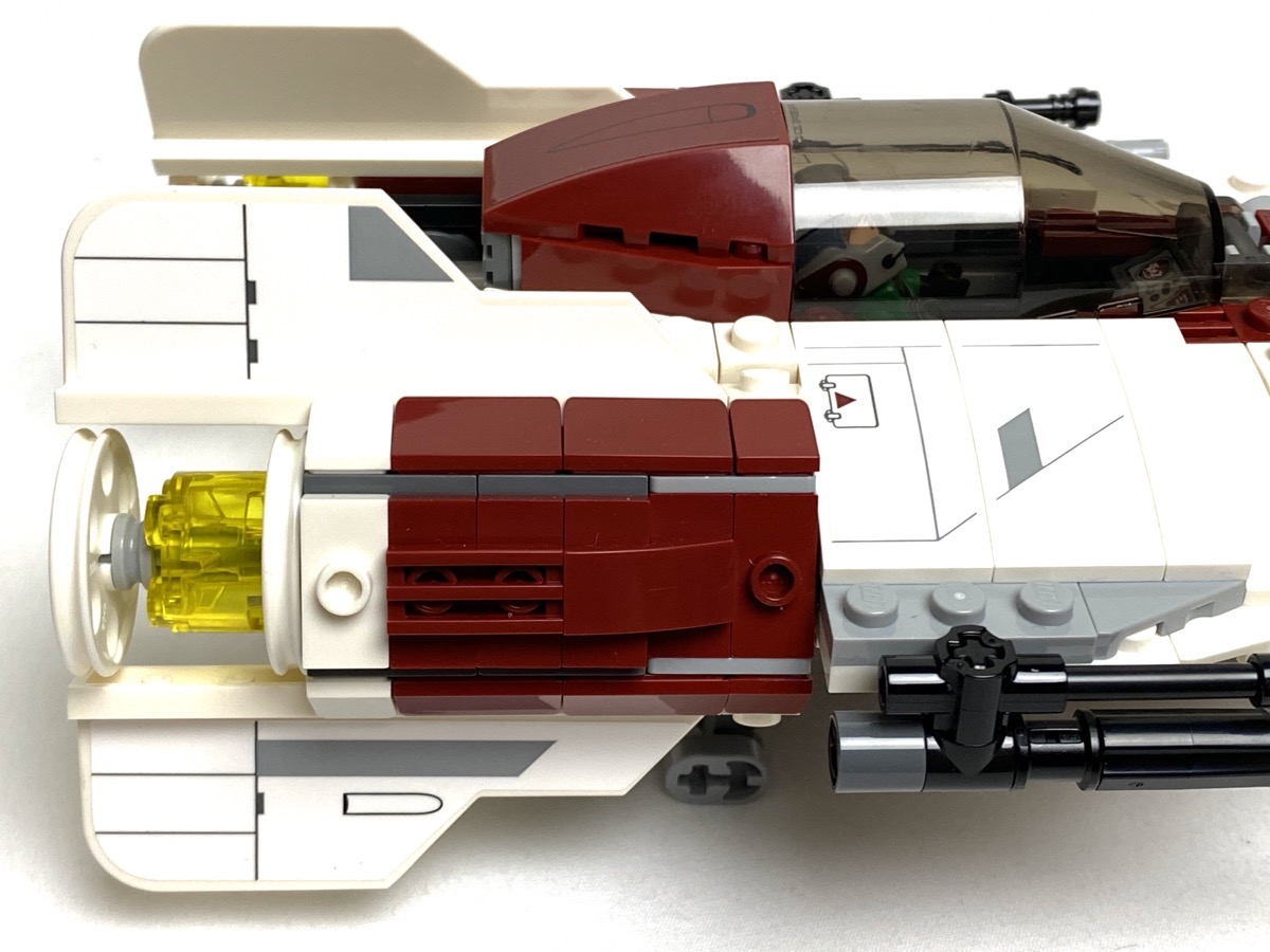 75175 A-Wing Starfighter rebuilt engines