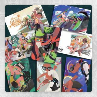 splatoon postcard set