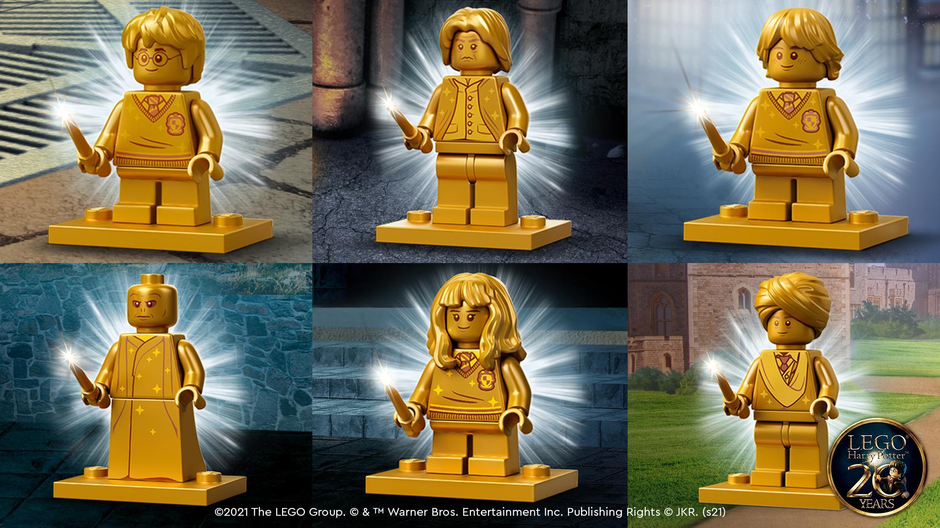 lego celebrates 20 years of lego harry potter with golden